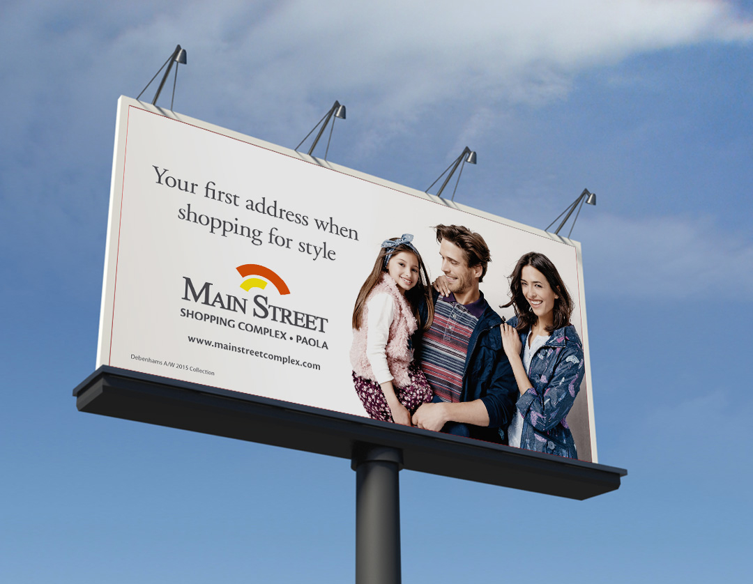 Main Street billboard mockup