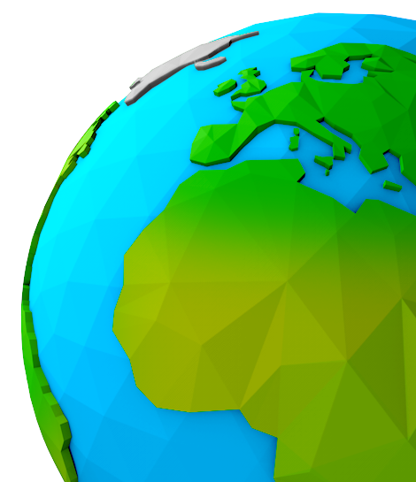 Low-poly Earth