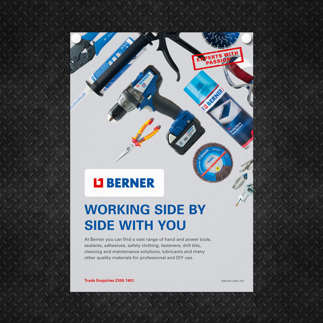 Design for Berner Malta campaign