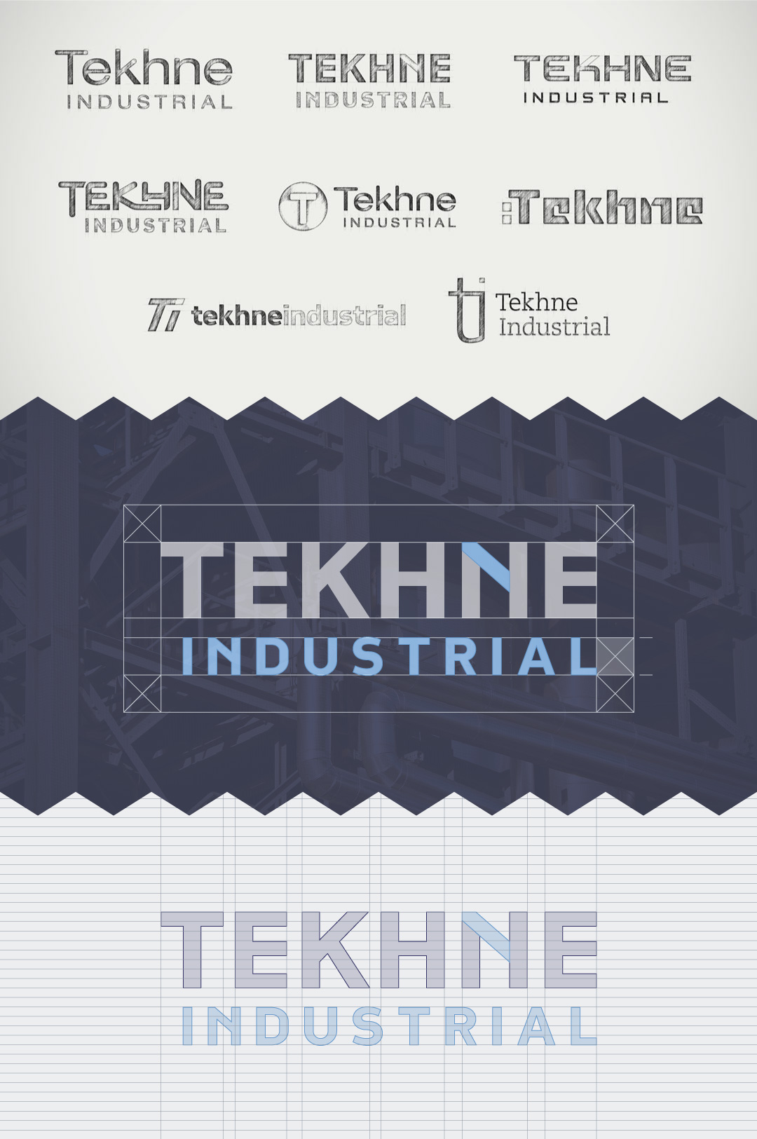 Tekhne logo development
