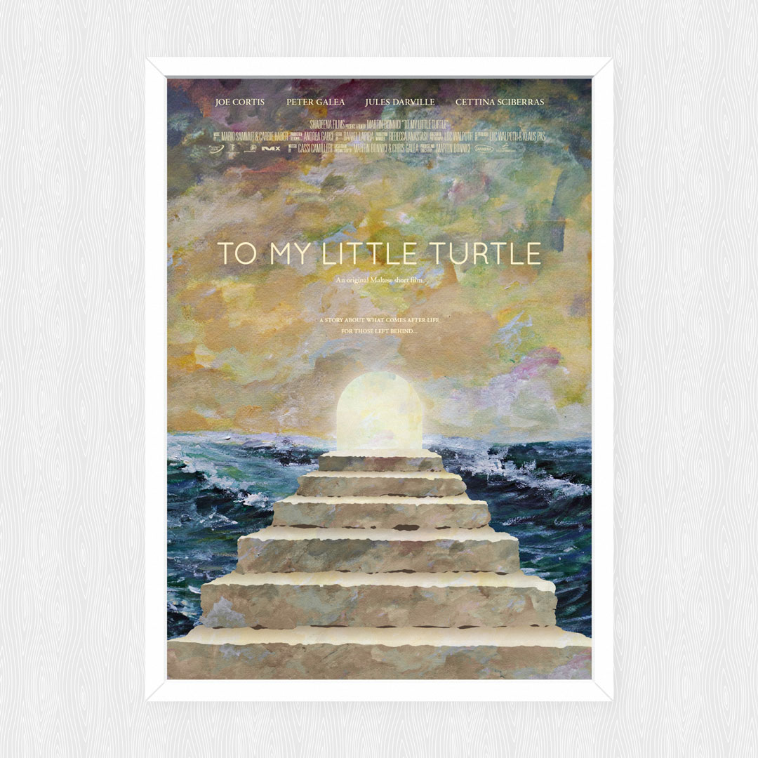To My Little Turtle poster design