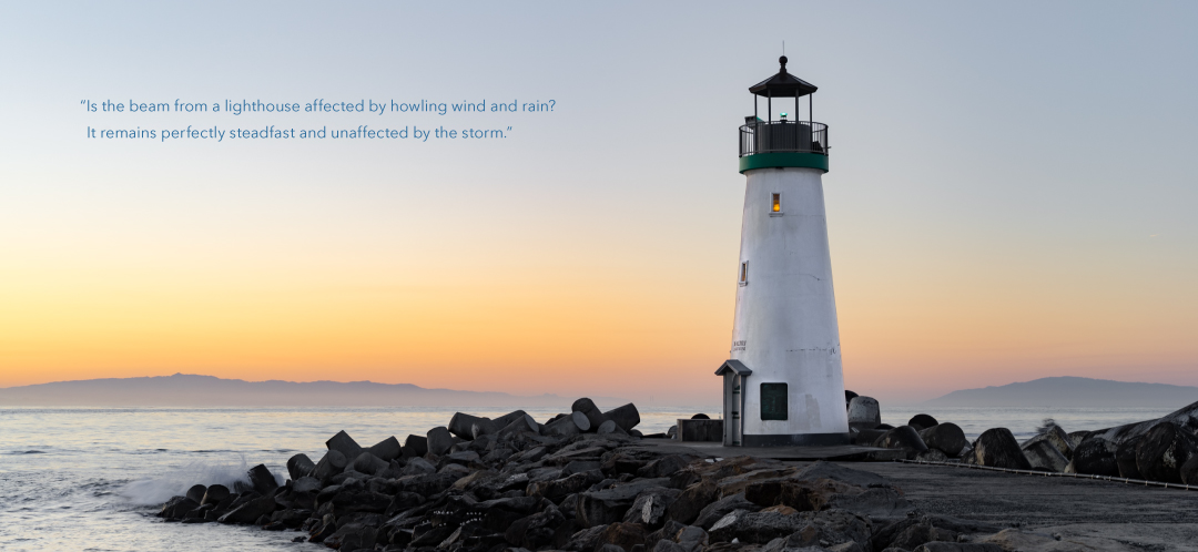 Lighthouse photo and quote