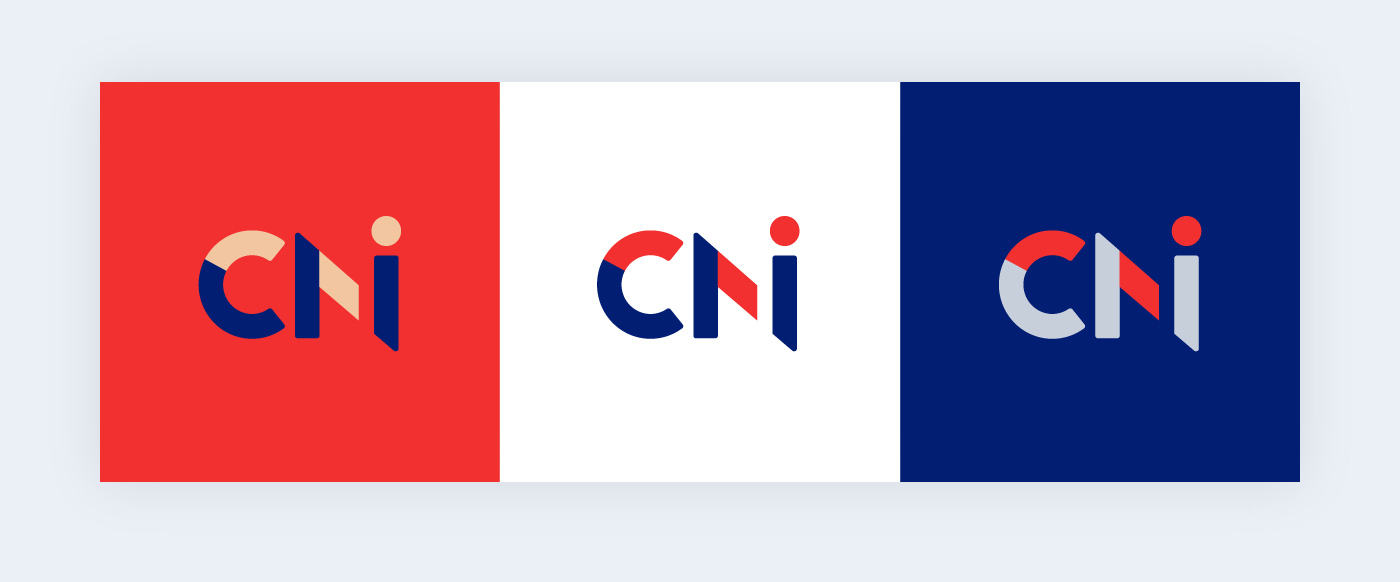 Colour variations of CNI logo